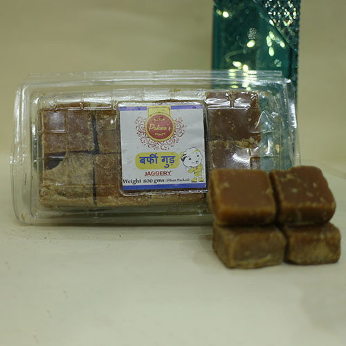 BURFI GUR (800 Gms. Pack) 8 KG BOX | Desi Jaggery